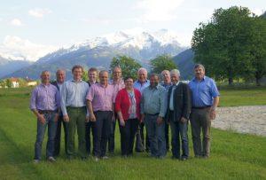 Die Ehrengäste DI Irmgard Mitterwallner und ÖR Anton Wagner (2. v.r.) mit dem Vorstand von Fleischrinder Austria um Obmann Hans Harsch (4.v.r.)