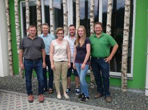 Der neu gewählte Vorstand bestehend aus Gerald Forster, Franz Reisenberger, Christina Trippold, Franz Pöschl, Sonja Peintinger und Heinz Ertl